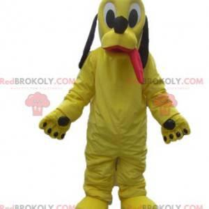 Mascot gele hond Pluto beroemde metgezel van Mickey -