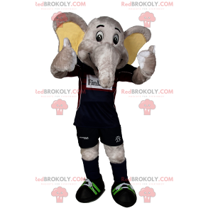 Maskot slona v fotbalové vybavení - Redbrokoly.com