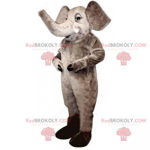 Gray elephant mascot - Redbrokoly.com