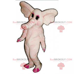 Růžový slon maskot - Redbrokoly.com