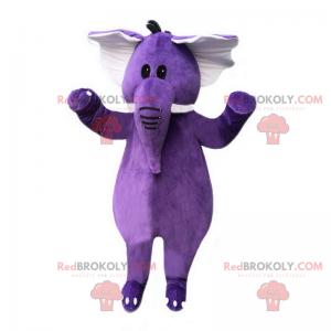 Maskot fialový slon - Redbrokoly.com