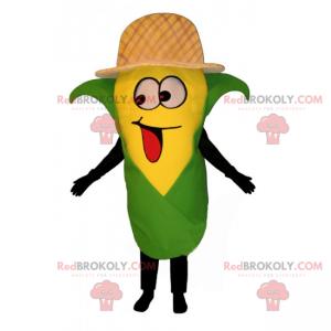 Maskot ušní kukuřice s kloboukem - Redbrokoly.com