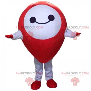 Červený a usměvavý špendlík maskot - Redbrokoly.com