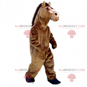 Rozzlobený hřebec maskot - Redbrokoly.com