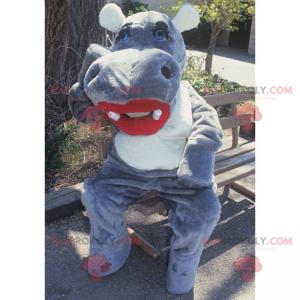 Mascotte di ippopotamo con rossetto - Redbrokoly.com