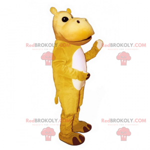Mascotte dell'ippopotamo giallo - Redbrokoly.com