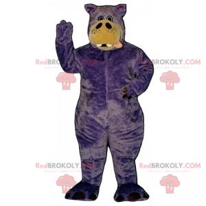 Maskot fialový hroch - Redbrokoly.com