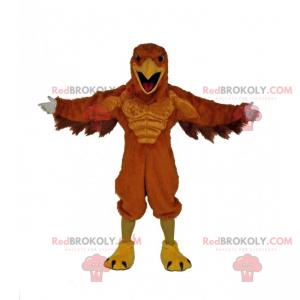 Mascot imposing raptor - Redbrokoly.com