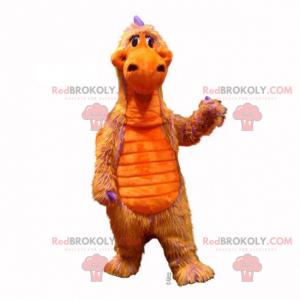 Oransje dinosaur maskot - Redbrokoly.com