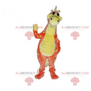 Maskot dinosaura s dlouhým krkem - Redbrokoly.com