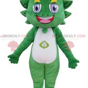 Barevné a usměvavé zelené a žluté drak maskot - Redbrokoly.com