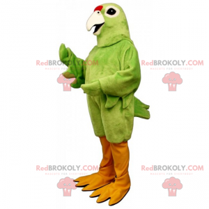 Mascote pássaro - papagaio Unicolor - Redbrokoly.com