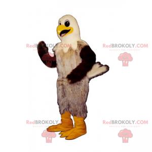 Bird mascot with a white head - Redbrokoly.com