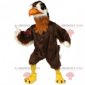 Eagle maskot med brun kappe - Redbrokoly.com