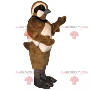 Sparrow mascot with two-tone plumage - Redbrokoly.com