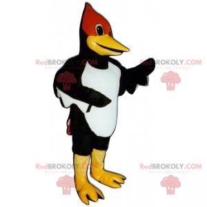 Bird mascot with a red face - Redbrokoly.com