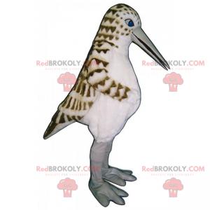 Ptak maskotka z nakrapianymi piórami - Redbrokoly.com