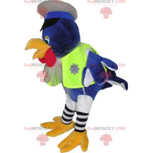 Bird mascot dressed as a policeman - Redbrokoly.com