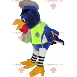 Vogelmaskottchen als Polizist verkleidet - Redbrokoly.com
