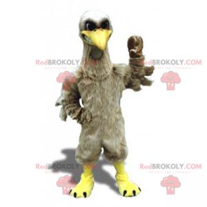 Gray bird mascot - Redbrokoly.com