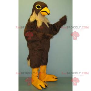 Braunes Vogelmaskottchen und beiger Hals - Redbrokoly.com
