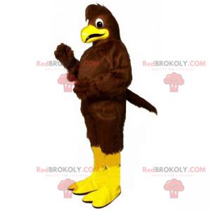 Braunes Vogelmaskottchen und gelbe Beine - Redbrokoly.com