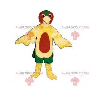 Mehrfarbiges Vogelmaskottchen - Redbrokoly.com