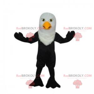Černá a bílá pták maskot - Redbrokoly.com