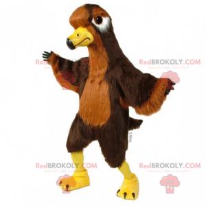 Brown and yellow bird mascot - Redbrokoly.com