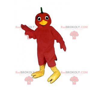 Maskot červený pták - Redbrokoly.com