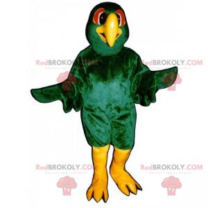 Zelený pták maskot - Redbrokoly.com