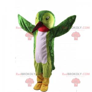 Green hummingbird mascot - Redbrokoly.com