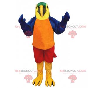Vogel Maskottchen - Papagei - Redbrokoly.com