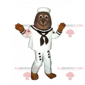 Sea lion mascot in sailor outfit - Redbrokoly.com