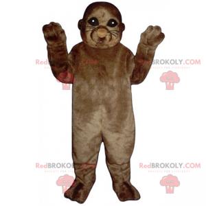 Mascote leão marinho marrom - Redbrokoly.com