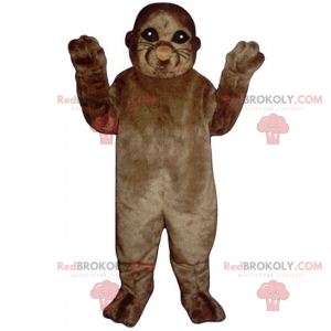 Mascotte leone marino marrone - Redbrokoly.com