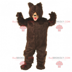 Tmavě hnědé vlasy medvěd maskot - Redbrokoly.com
