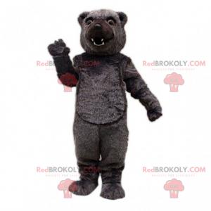 Maskotka niedźwiedź czarny włosy - Redbrokoly.com
