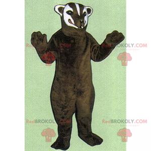 Bärenmaskottchen mit weißem Gesicht - Redbrokoly.com