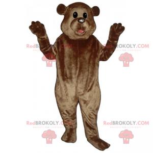 Bear mascot with small round ears - Redbrokoly.com