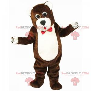 Bärenmaskottchen mit roter Fliege - Redbrokoly.com