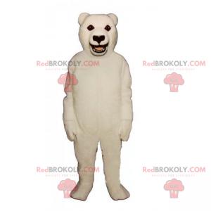 Polar bear mascot and black eyes - Redbrokoly.com