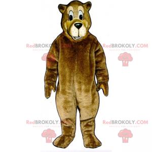 Braunbärenmaskottchen mit langer Schnauze - Redbrokoly.com
