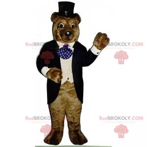 Braunbärenmaskottchen in Galakleidung - Redbrokoly.com