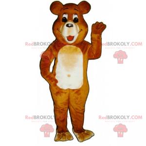 Hnědý a béžový medvěd maskot - Redbrokoly.com