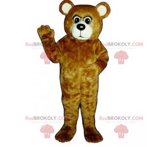 Braun-Weißbären-Maskottchen - Redbrokoly.com