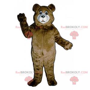 Brown bear mascot and white muzzle - Redbrokoly.com