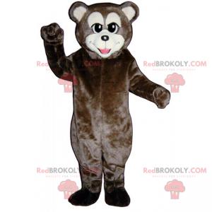 Medvěd hnědý maskot s bílou tlamou - Redbrokoly.com