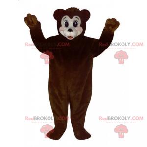 Maskot medvěd hnědý a bílý obličej - Redbrokoly.com