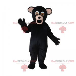 Black bear mascot with big ears - Redbrokoly.com